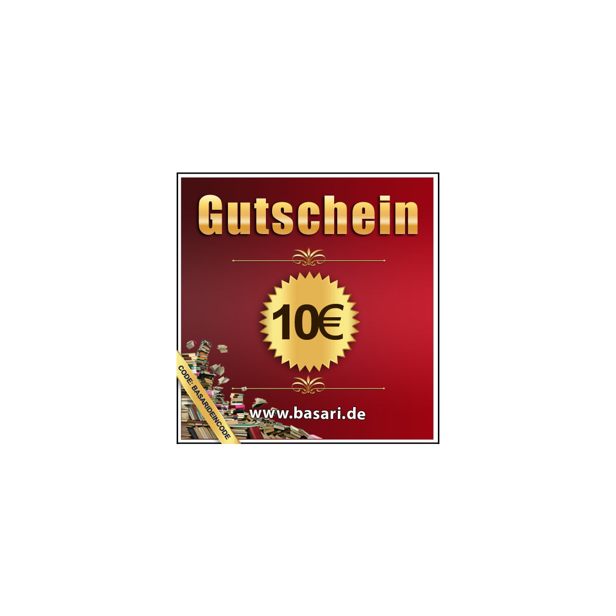 basari gutschein im wert von 10 euro 10 00. Black Bedroom Furniture Sets. Home Design Ideas
